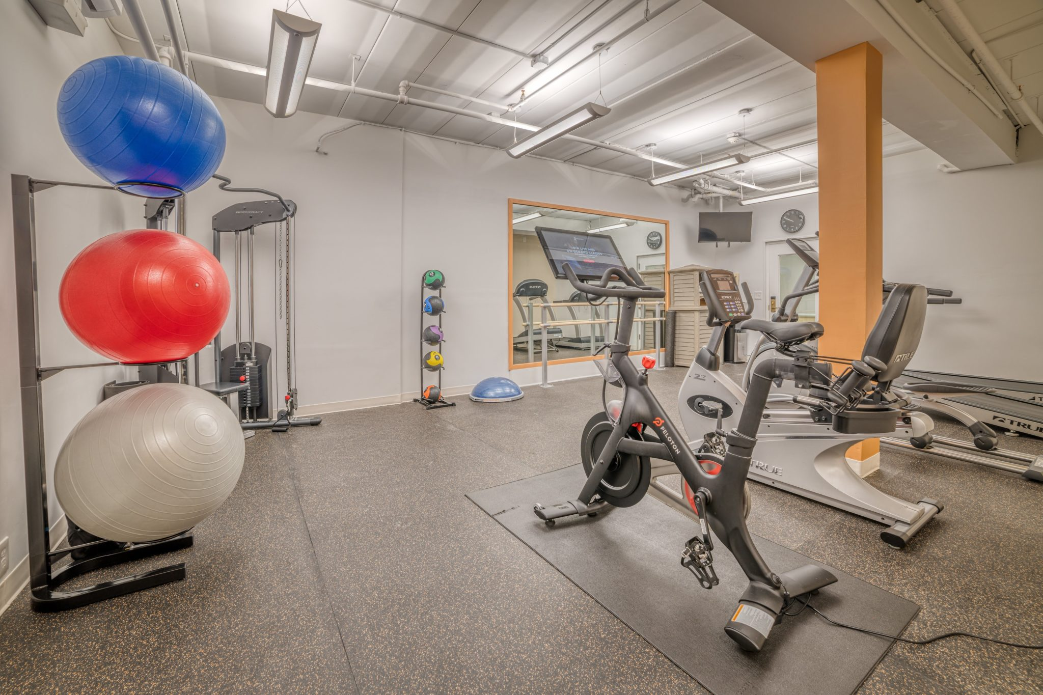 Best Western's exercise room with Penelton bike