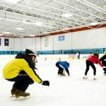 Ick skating lessons at mennen sports arena