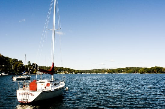 Sailboat on Lake Hopatcong