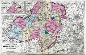 Old map of Morris County