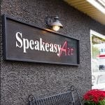 Speakeasy Art outdoor signage