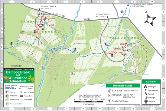 Map of Bamboo Brook and Willowwood Arboretum