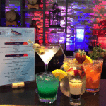 Variety of cocktails at a bar