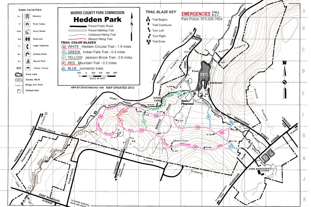 Hedden Park Heden Park Trail Map