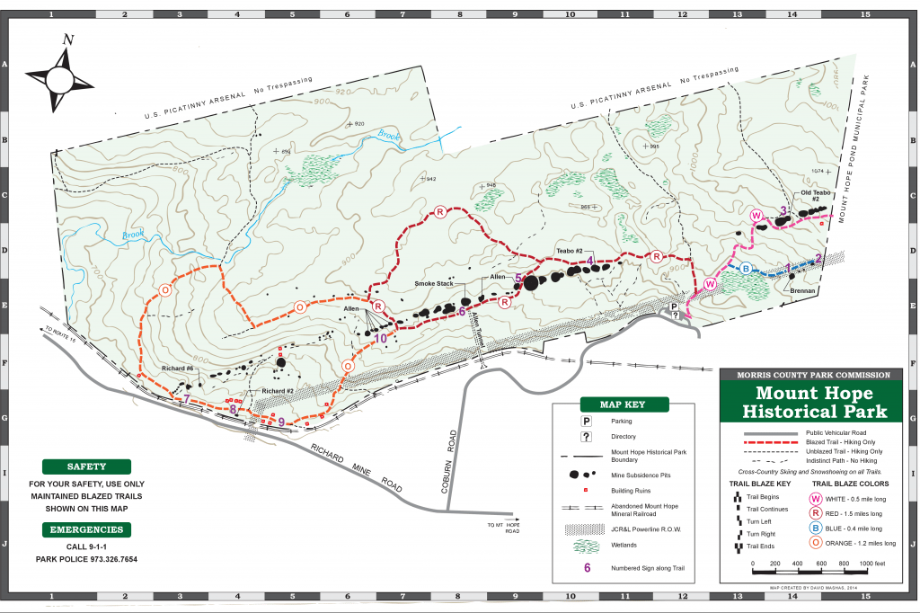 Map of Mount Hope Historical Park