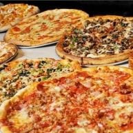 Various different pizza pies