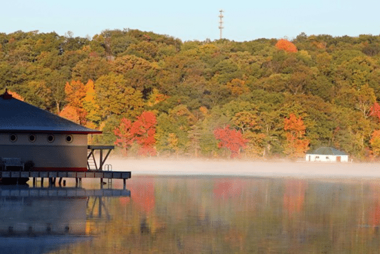 fog on water at Lake Hopatcong