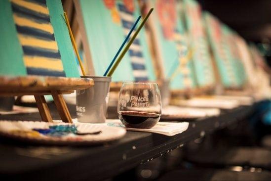 Art class at Pinot's Palette