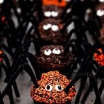 spiders made from cupcakes