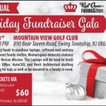 Holiday Fundraiser Gala information signage