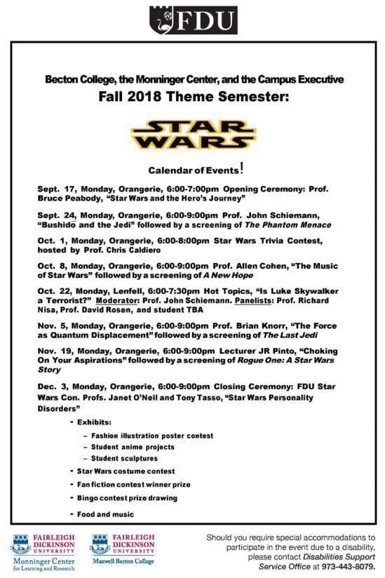 Fdus Star Wars Theme Semester
