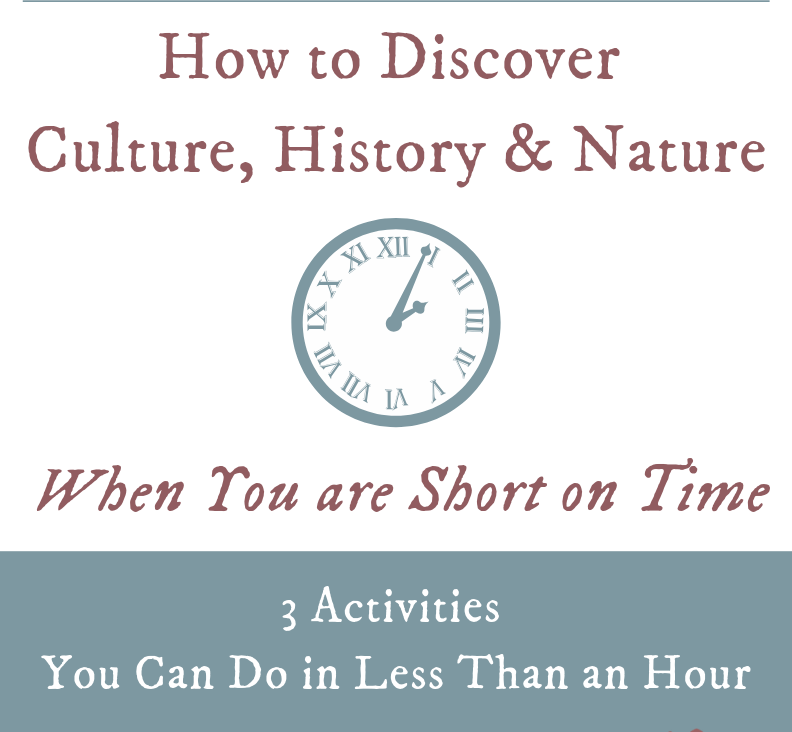 Discover history, art and culture in under an hour