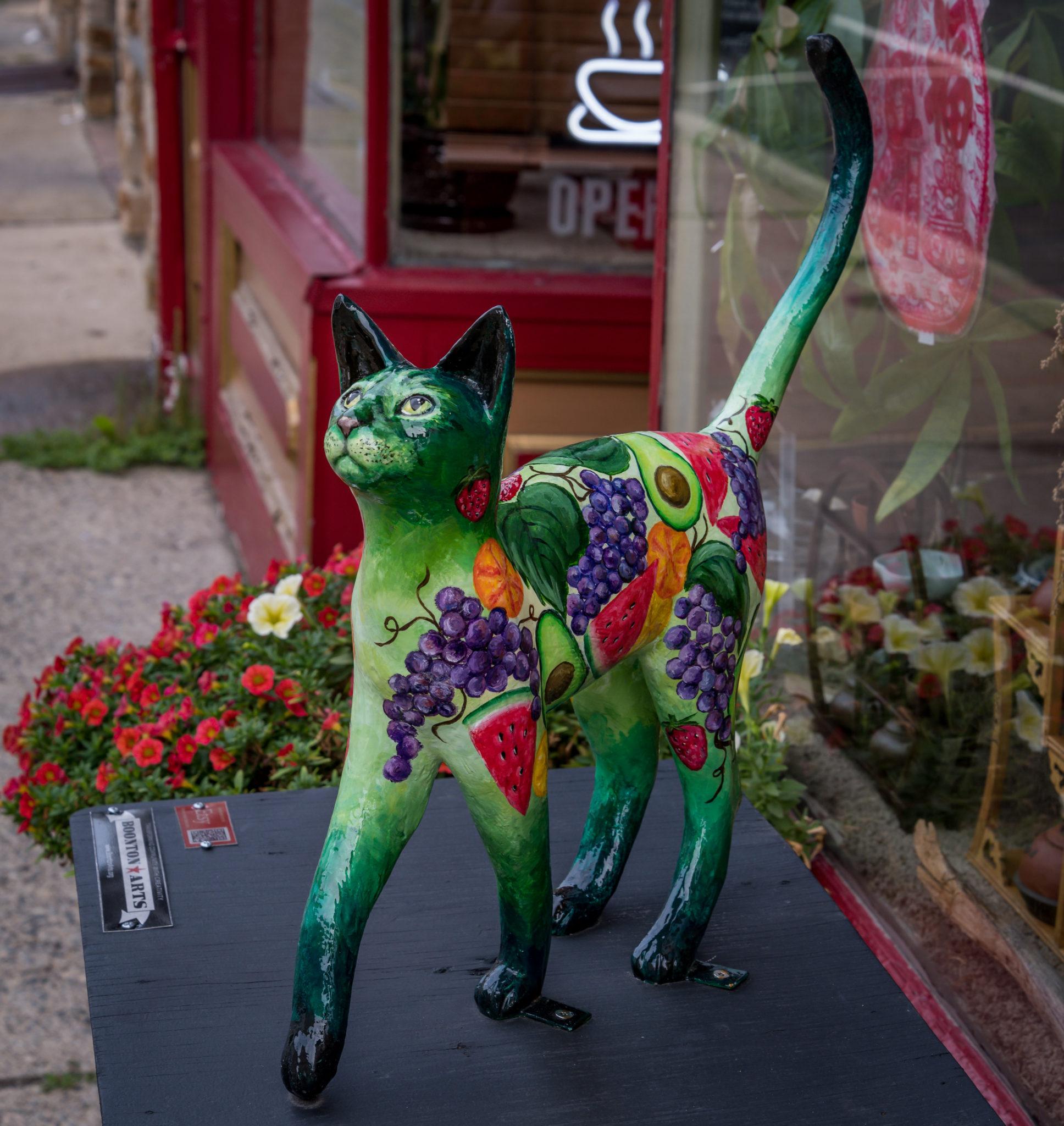 Boonton Arts, Exterior, Painted Cat Statue