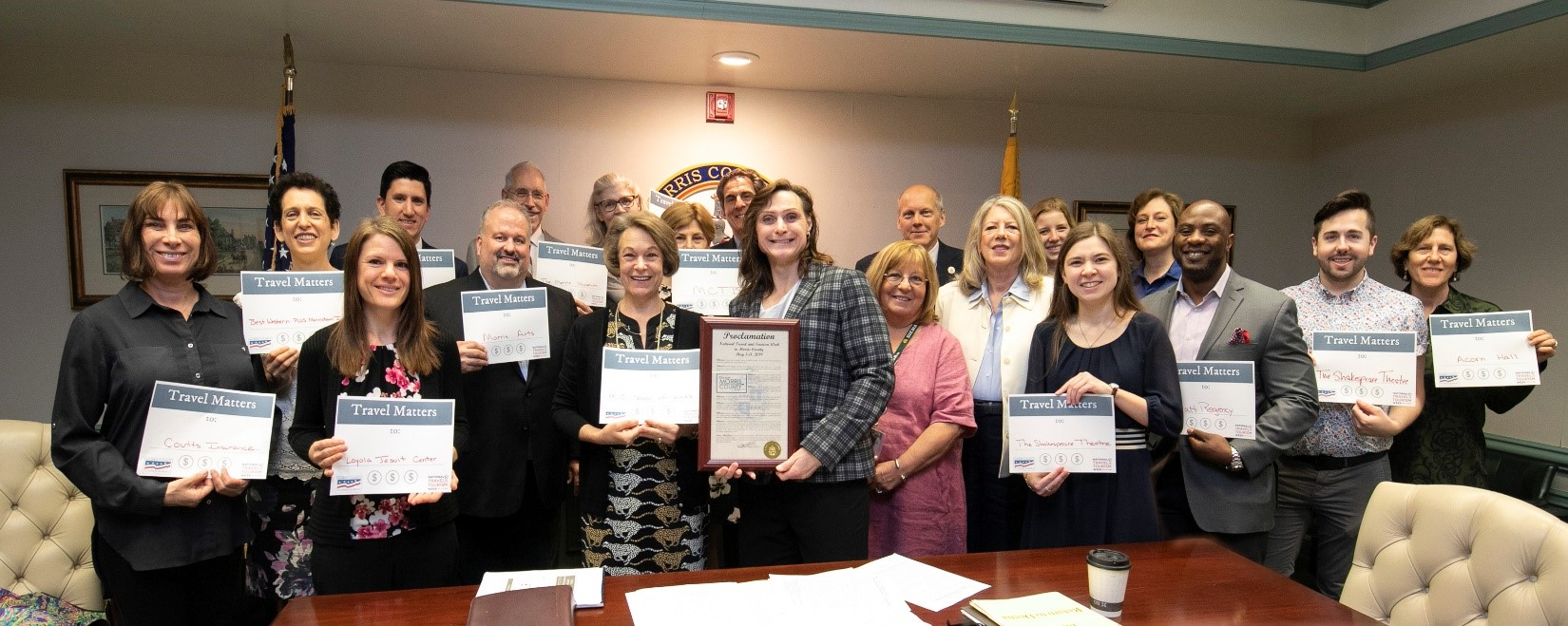 Morris County Freeholders National Tourism Week Proclaimaition