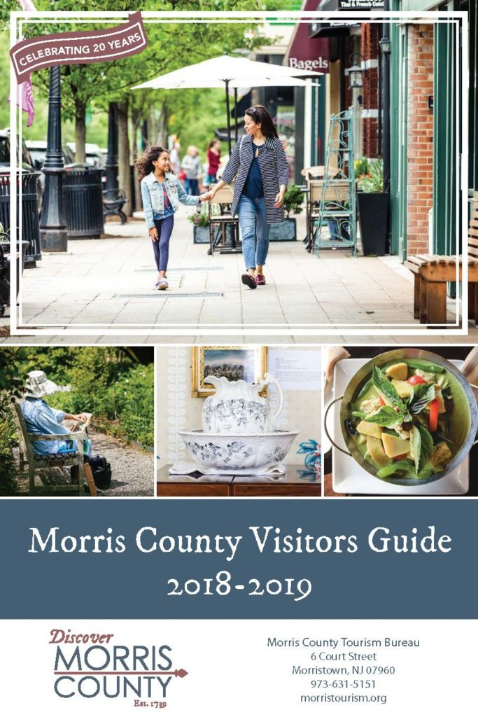 Cover of Morris County Tourism Bureau's Official Visitors Guide for 2018-2019