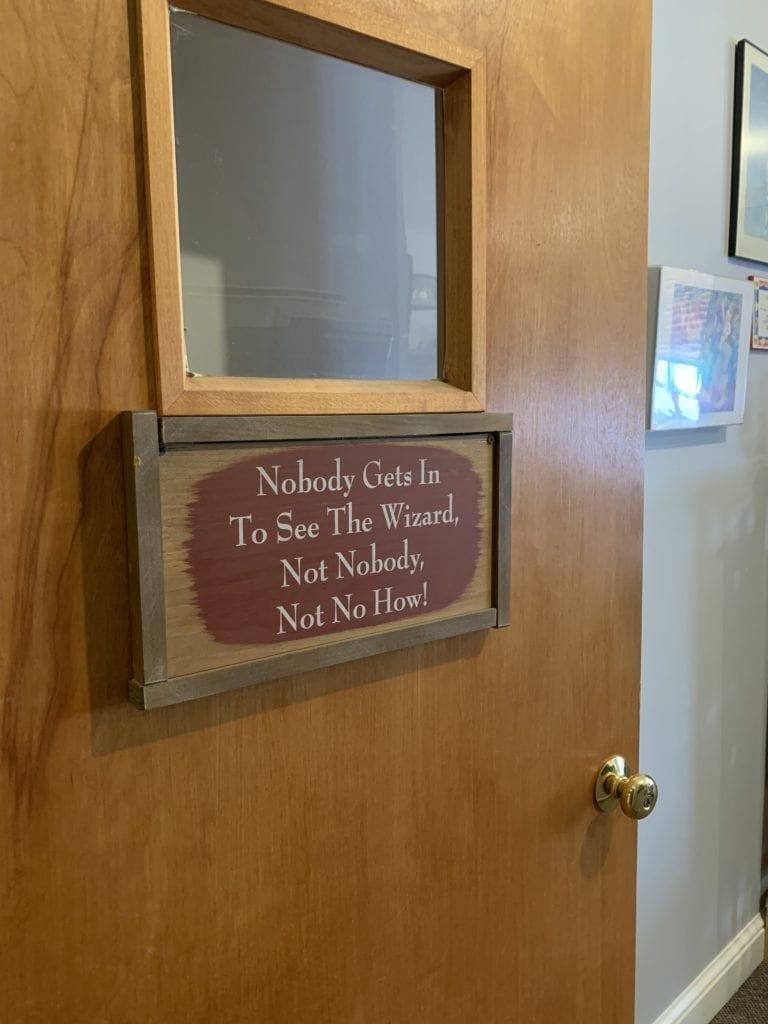 The Director Wizard's door