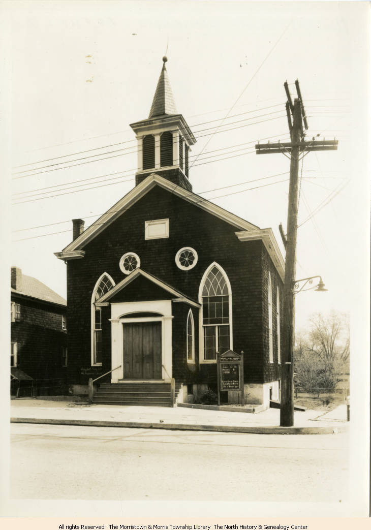 Vintage photo of Bethel-AME church in Morristown