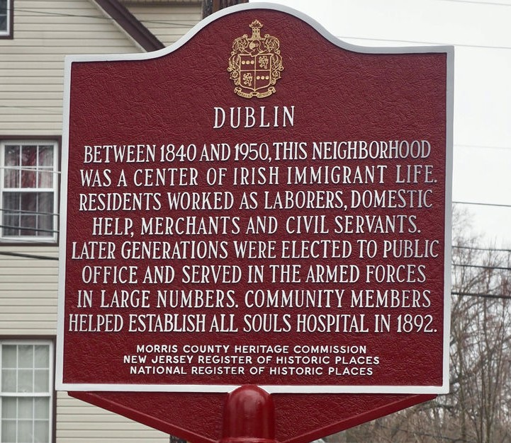 Historic Marker about the Irish in Morristown