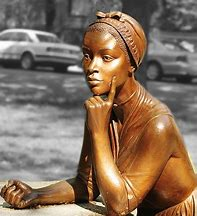 photo of a sculpture of Phillis Wheatley