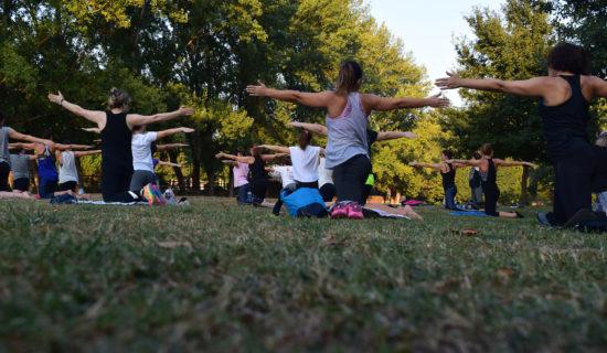 MSD Community School-outdoor yoga